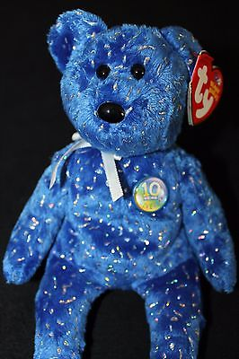 Ty Beanie Babies - Decade the Bear (2003, Retired, NMWT) - Royal Blue