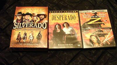 SILVERADO (DVD Gift Set), DESPERADO, THE MASK OF & LEGEND OF ZORRO. NrPerfect