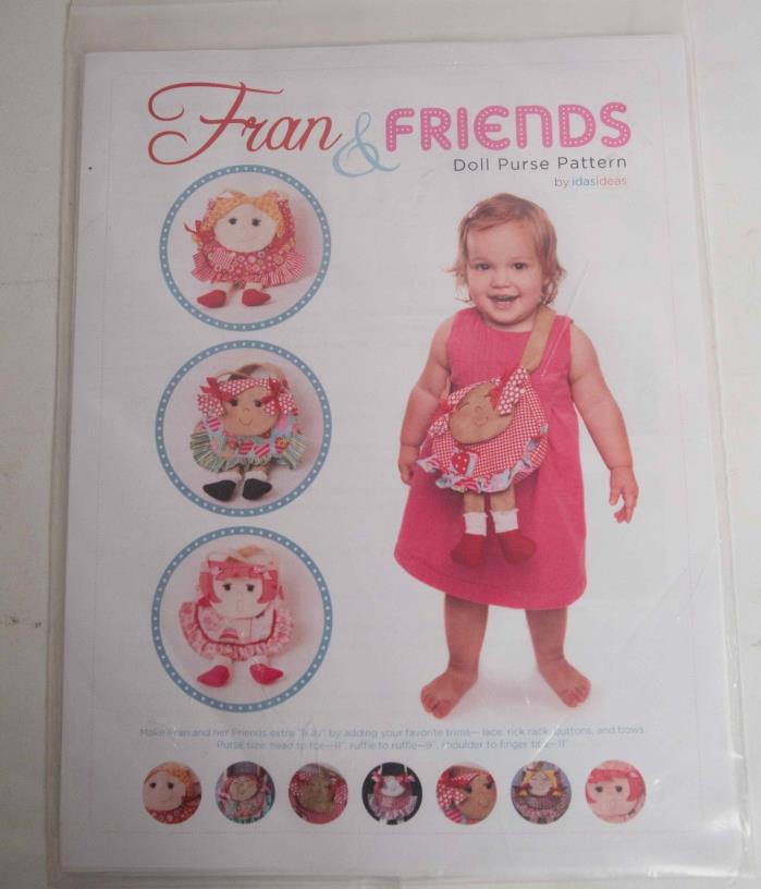 Fran & Friends Doll Purse Sewing Pattern by IdasIdeas