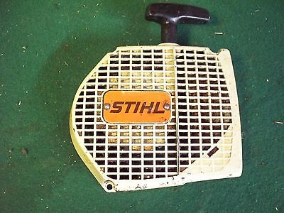 Stihl Vintage Metal Chainsaw Recoil Starter Cover  ALUMINUM