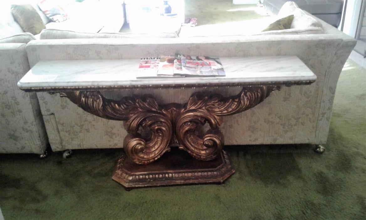 Stunning antique marble top table