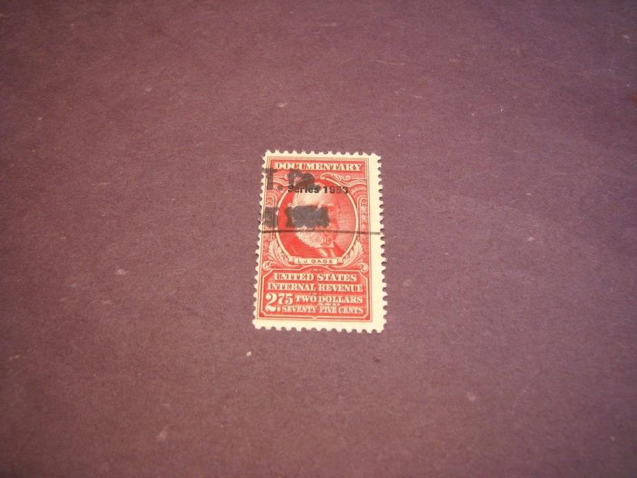 US Stamp Back of Book Scott# R638  Gage  1953  C222