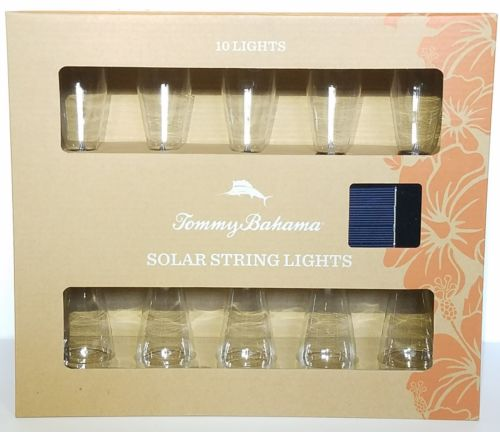 Tommy Bahama 10 Solar String Lights Outdoor Patio New