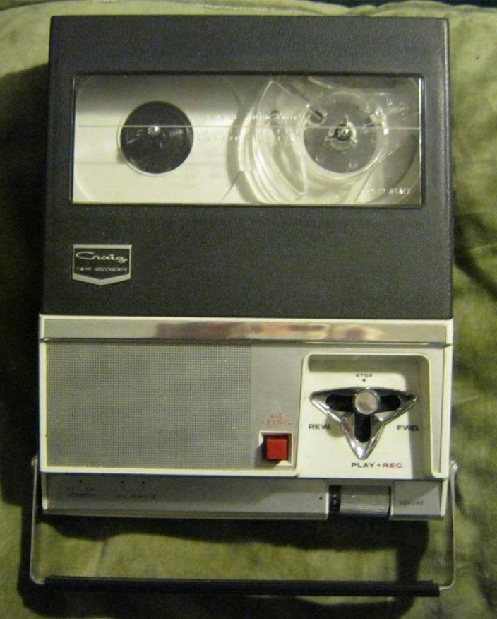 Craig 212 reel to reel tape recorder