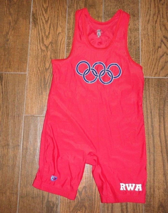 Mens Cliff Keen Team USA Region Wrestling Singlet jersey bib Sz. M