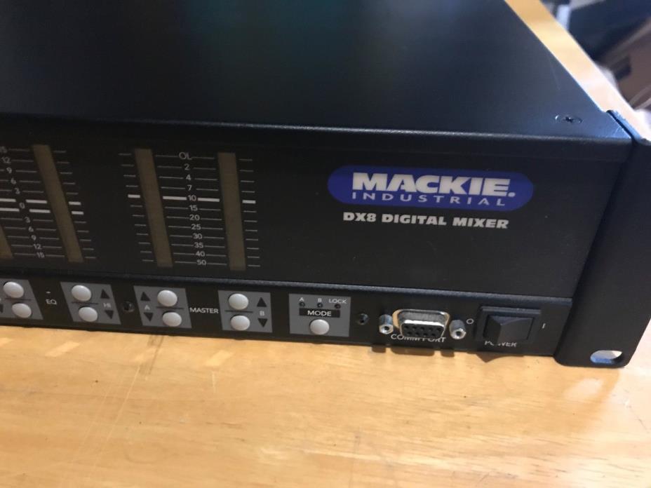 Mackie Industrial DX8 Digital Audio Mixer Rack Mount