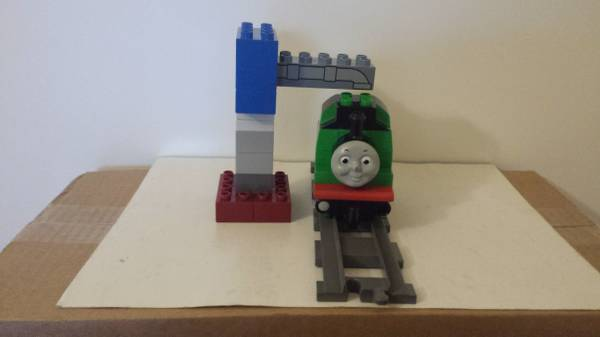 Lego Duplo Thomas the Train Percy at the Water Tower Green #5556 Complete