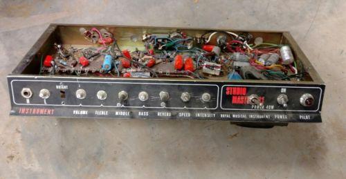 Vintage amp parts, royal musical instruments, studio master ??