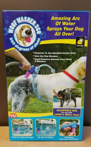 NIB New Woof Washer 360 by BulbHead Perfect Dog Washing Station As Seen On TV