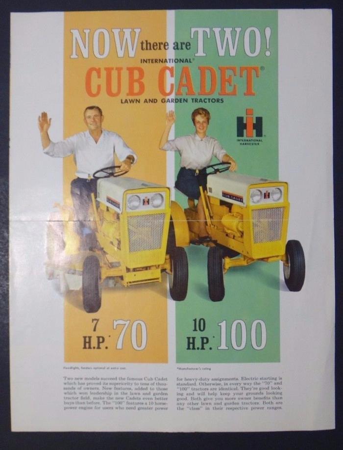 International Harvester Cub Cadet Tractor Brochure
