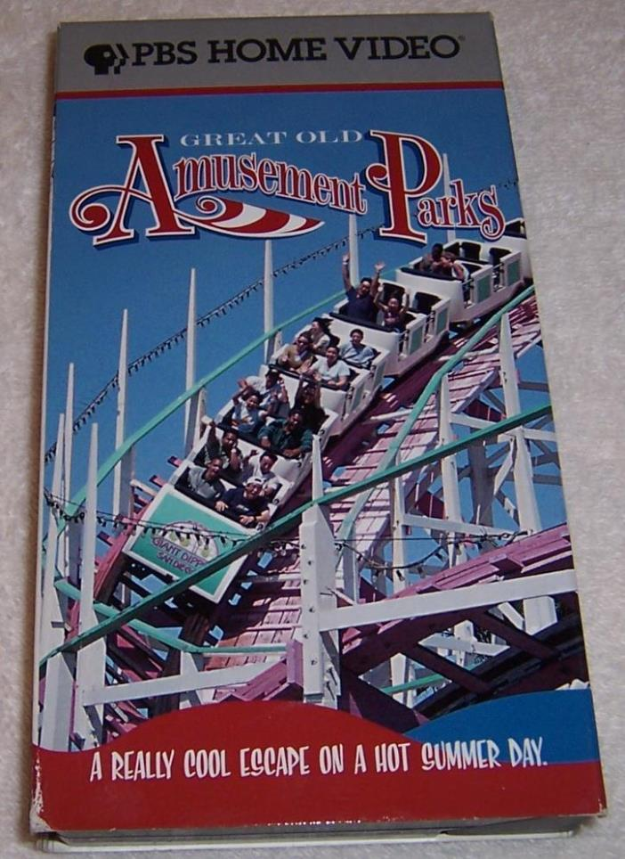 Great Old Amusement Parks VHS Video roller coasters PBS