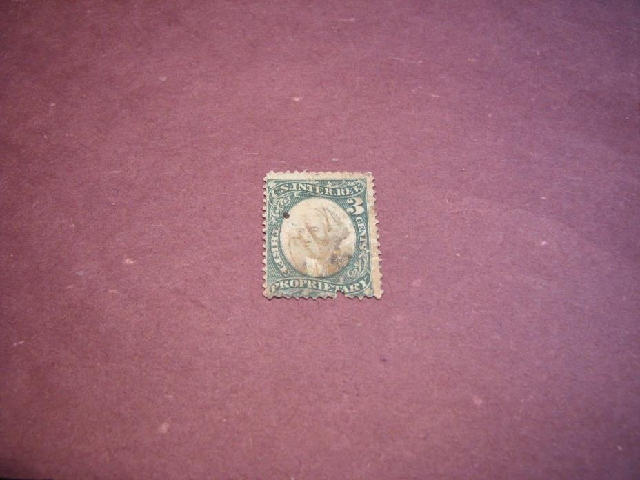 US Stamp Back of Book Scott# RB3b Washington 1874 C223