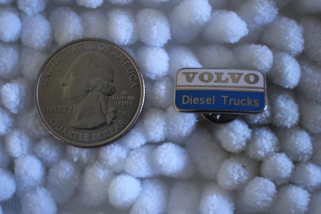 Volvo Diesel Trucks Small Silver Tone Pin Pinback #23572