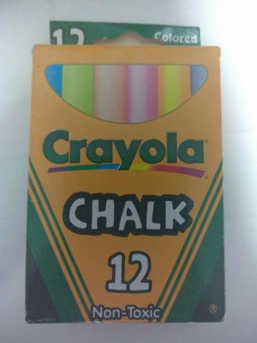 Crayola Colored Chalk 12 count Non Toxic NEW Teacher Classroom (S)