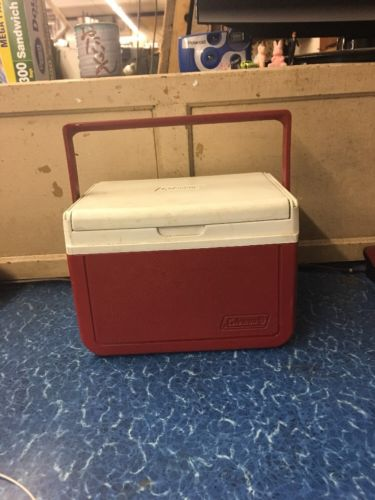 Red Travel Size Coleman Cooler 10