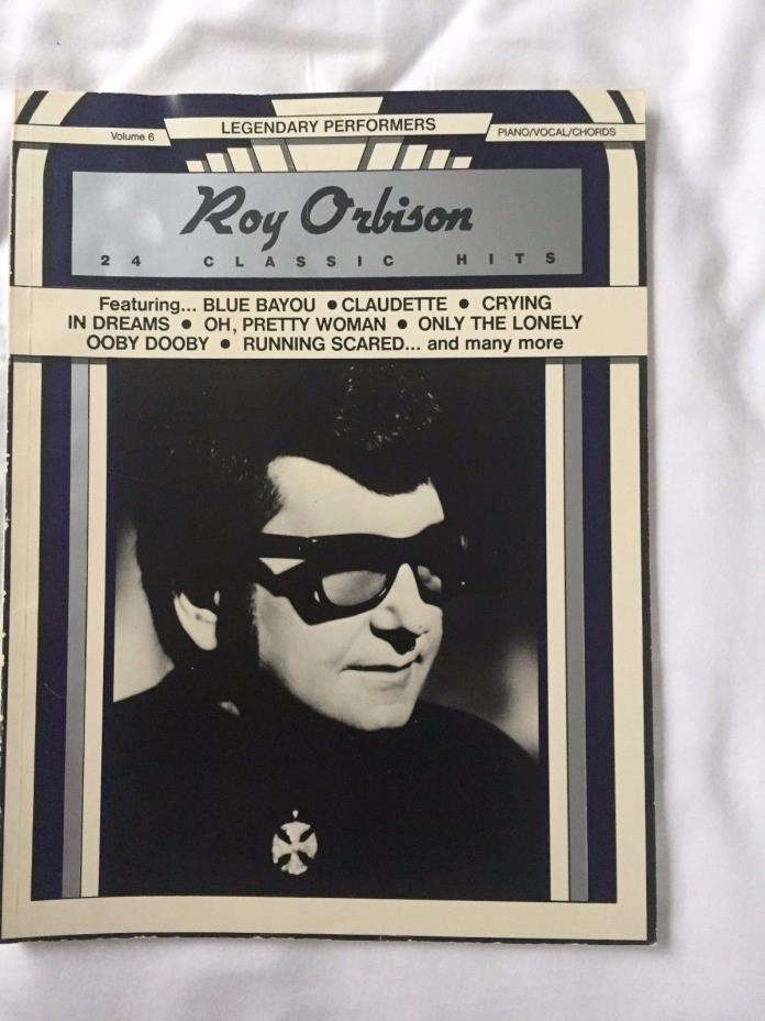 Roy Orbison 24 Classic Hits Piano/Vocal/Chords Music Book