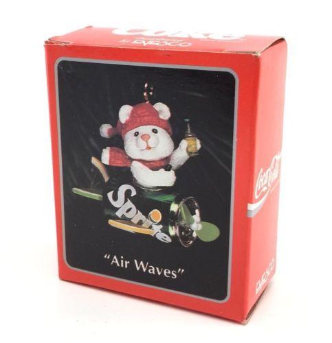 Enesco Air Waves Sprite Ornament Coca Cola Coke Miniature Treasury of Christmas