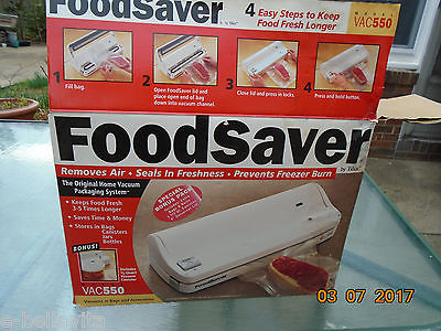 FOOD SAVER, VACUUM SEALER,  NEW