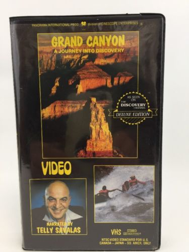 Grand Canyon VHS A Journey Into Discovery Video Telly Savalas 80 Minutes Rare