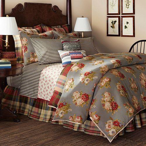 Ralph Lauren CHAPS Hudson River Valley Reversible Queen Comforter Set & Sheets