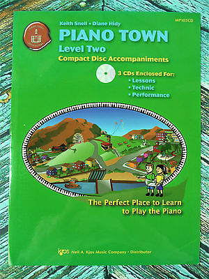 New! PIANO TOWN LEVEL 2 CD Accompaniments Lessons Technic Performance MP102CD