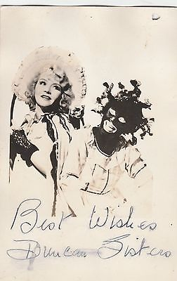 AUTHENTIC  AUTOGRAPHED POSTCARD PHOTO OF VAUDEVILLE DUO