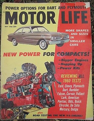 1960 MOTOR LIFE Car Magazine FORD V-6 PROTOTYPE Dart Rambler Falcon Corvair