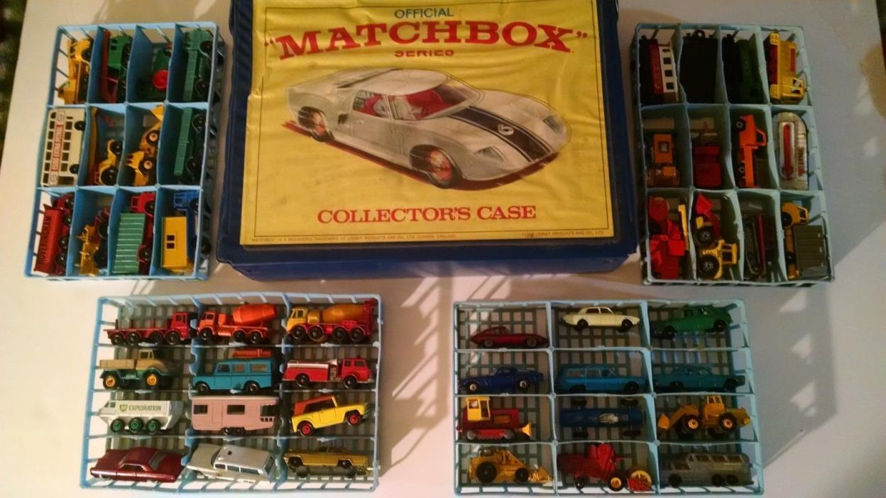 Vintage 1960's Matchbox Lesney *Regular Wheels* Select Lot of 48 and Case *LOOK*