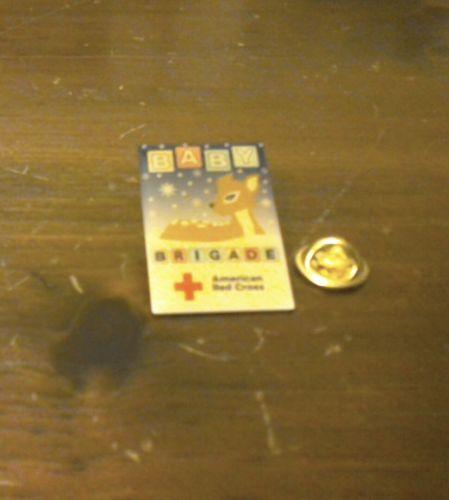 vintage american red cross baby brigade pin