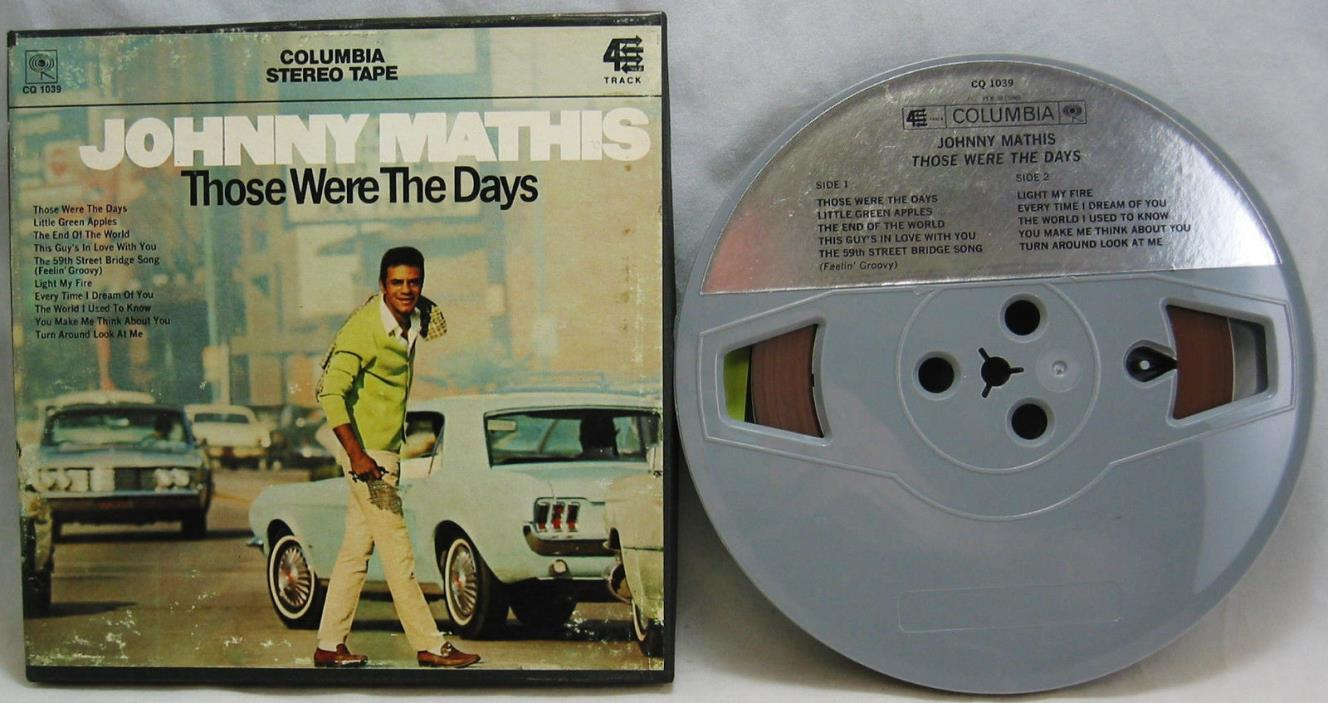 Johnny Mathis Those Were The Days 4 Track Reel to Reel 7 1/2 IPS Columbia CQ1039