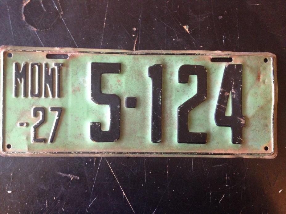 1927 Montana License Plate (Original)