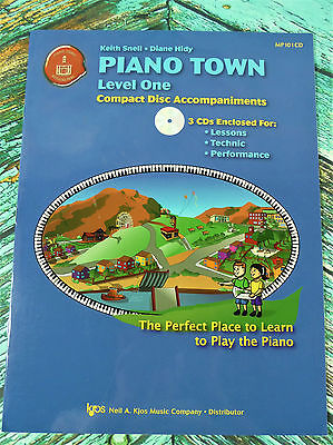 New! PIANO TOWN LEVEL 1 CD Accompaniments Lessons Technic Performance MP101CD