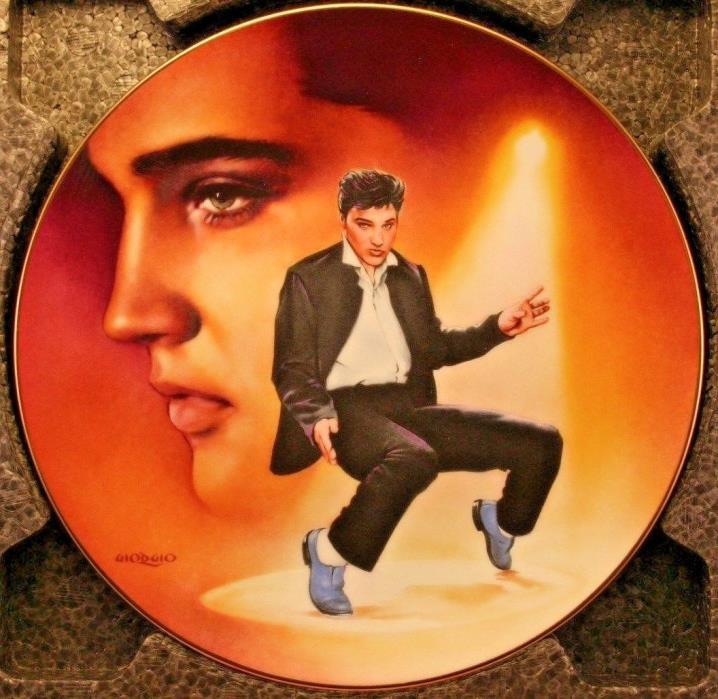 Elvis Presley Blue Suede Shoes Delphi Bradford Collector Plate COA