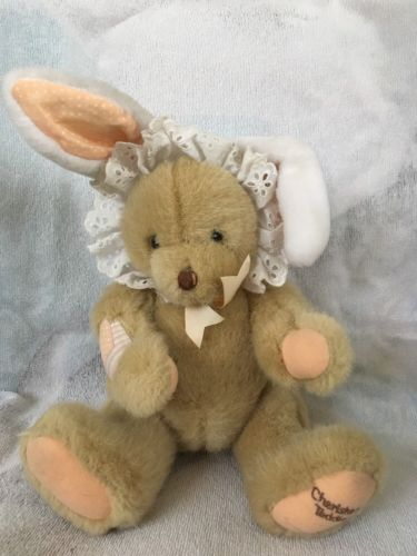 Cherished  Teddies Dakin Jointed Bear With Bunny Ears #823141 MINT