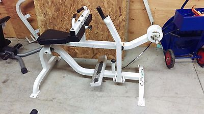 Used Cadex Seated Plate Loaded Calf Raise Workout Fitness Exercise Legs Bench