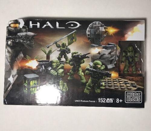 2015 Halo Mega Bloks Set UNSC Fireteam Taurus NEW IN BOX/Damaged Box Corner
