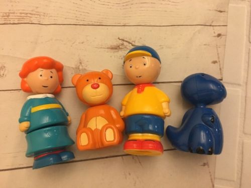 USED Caillou Snap-apart Toys Interchangeable Figures Lot