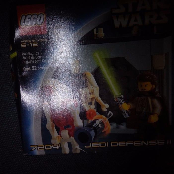 SEALED BOX Lego Star Wars Episode I Jedi Defense II (7204)   QUI-GON JINN