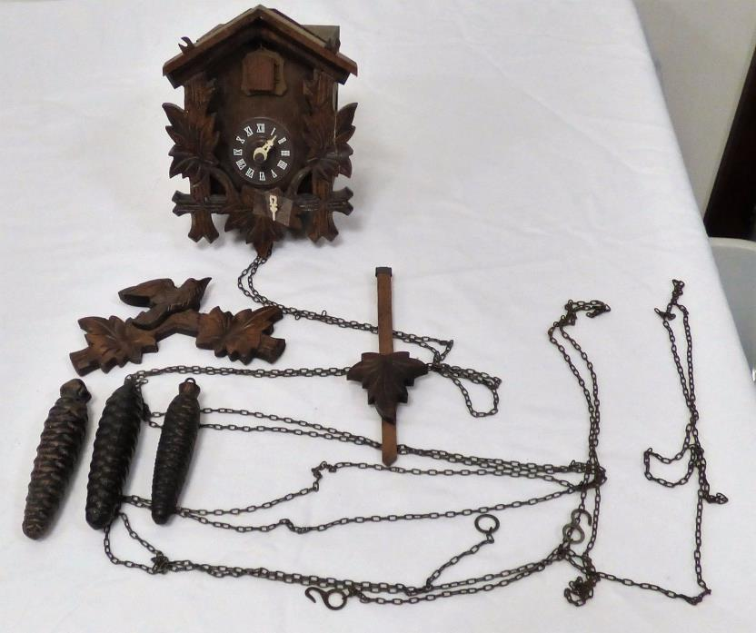 VINTAGE CUCKOO CLOCK - FOR PARTS OR REPAIR