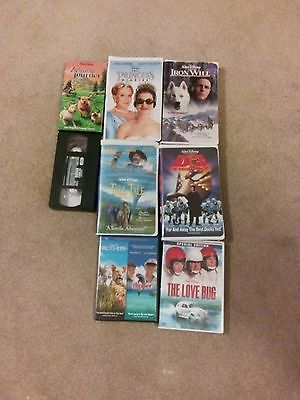Lot of  8  vhs and cd Disney movies
