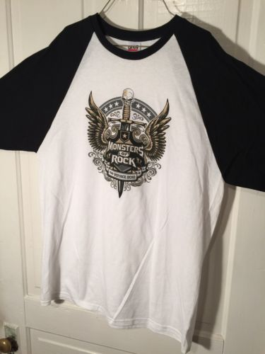 Monsters of Rock 2012 Cruise Men's T shirt Size M Heavy Metal Hair Bands