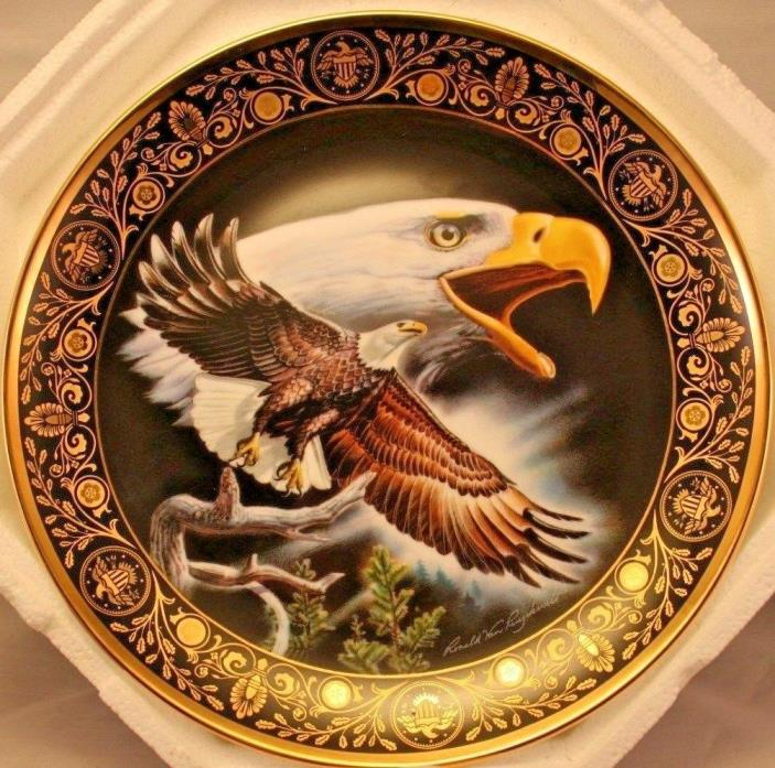Celebration Of Freedom Franklin Mint Heirloom Eagle Collector Plate No COA