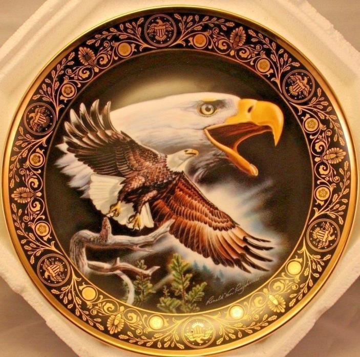 Celebration Of Freedom Franklin Mint Heirloom Eagle Collector Plate No COA