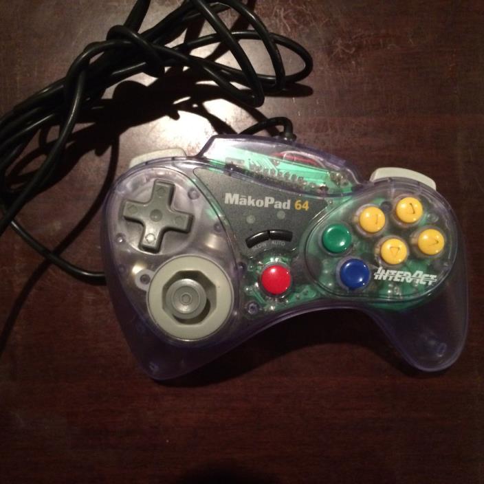 Nintendo 64 MakoPad 64 Controller by InterAct  N64 SV-304 clear Mako Pad
