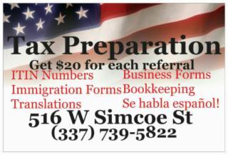 Tax preparation,hablo español