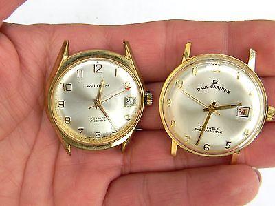 Waltham Incabloc Watch 17-Jewels & Paul Garnier 17 jewels wind-up watches Men's