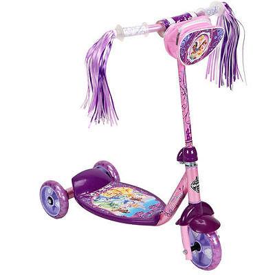 Huffy-Disney-Princess-3-Wheel-Preschool-Scooter-Pink-Purple-New-Kid-Outdoor-Toy