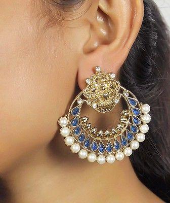 CE-531 Designer Bollywood Style Ramleela Earrings Indian Antique Jewelry