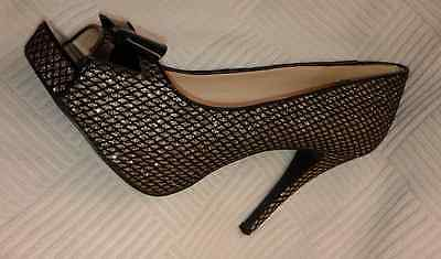 Nine West Black/ Taupe Mesh Shoes