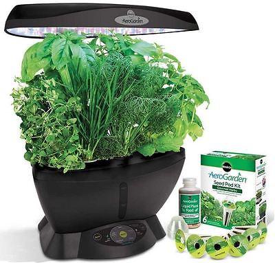 MiracleGro AeroGarden Ultra LED Indoor Garden Yearly Fresh Gourmet Herb Seed Kit